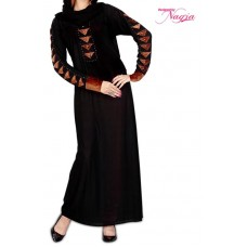 New Design Black Lycra Abaya
