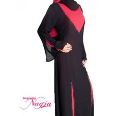 Red Design Pullover Abaya