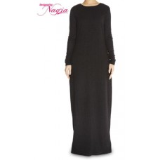 Black Knitted Abaya