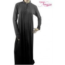 Straight Cut Abaya with Pleats from Neckline