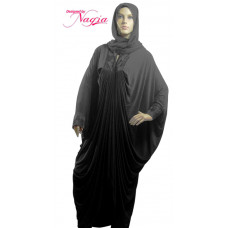 Stretch Abaya with Black Embroidery
