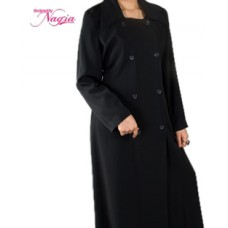Side Open Black Abaya