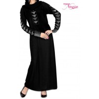 Stylish Black Lycra Abaya