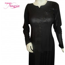 Abaya with Elegant Stone Work